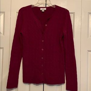 Loft cardigan size small. Mulberry color.